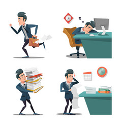 stress at work businessman with briefcase vector image vector image