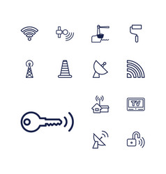 13 signal icons vector
