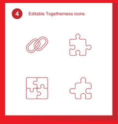 4 togetherness icons vector