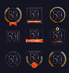 60 years anniversary logo set vector image