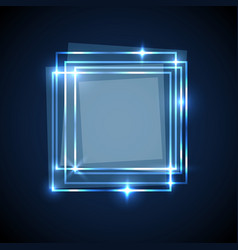 Abstract background with blue squares banner vector