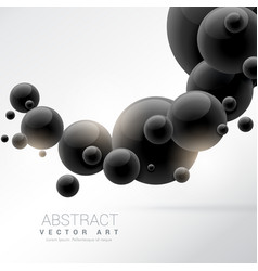 Abstract black 3d molecules background vector