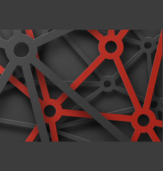 Abstract patterned cobwebs of lines and circles vector