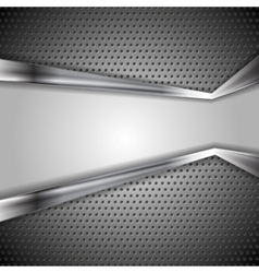 Abstract perforated metal background vector