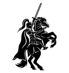 Ancient warrior on horseback vector