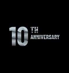 Anniversary 10th paper cut vector