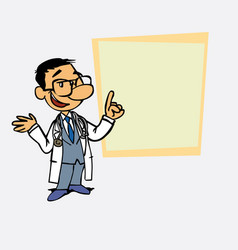 Asian doctor relaxed speak content is showing as vector