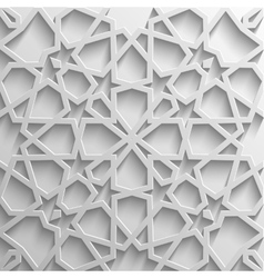 Background with 3d seamless pattern in Islamic vector