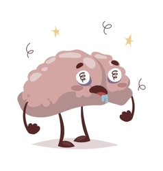 Bad brain and headache vector image