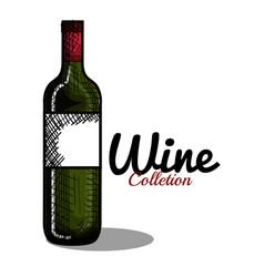Best wine bottle icon vector