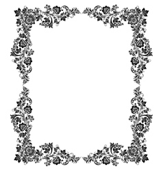 Black and white vintage frame vector