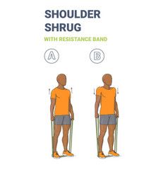 Black guy doing shoulder shrugs home workout vector