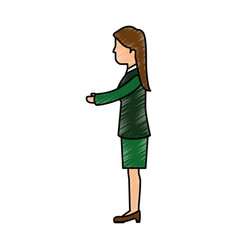Business woman handshake vector
