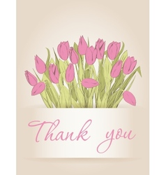 Cards with tulips vector image