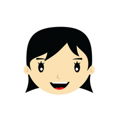 Cartoon face expression female woman girl art vector