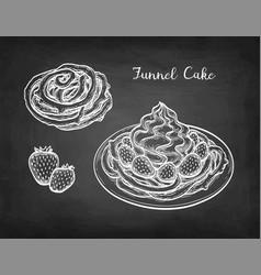 chalk sketch funnel cake vector image
