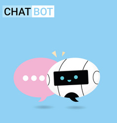 chat bot robot concept vector image
