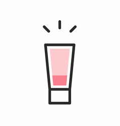 cocktail shot icon vector image