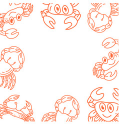 crab frame empty template vector image