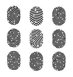 creative of fingerprint art vector image