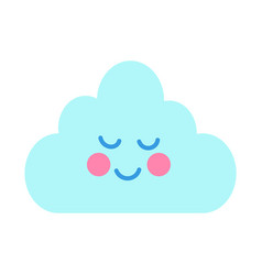 Cute card with cheerful cloud vector
