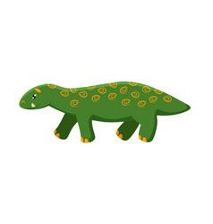 Cute dinosaur brontosaurus isolated on white vector
