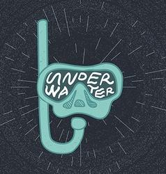 Diving mask lettering vector image