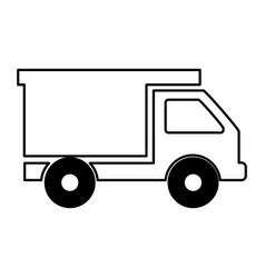 Dump truck isolated icon vector