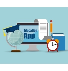 education app online computer icons design vector image