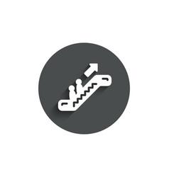 Escalator simple icon elevator sign vector