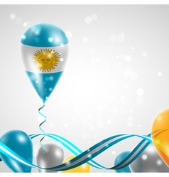 Flag of Argentina on balloon vector image
