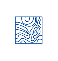 floorboard line icon concept floorboard flat vector image