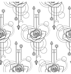 Floral geometric seamless pattern vector