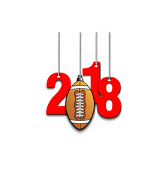 Football and 2018 hanging on strings vector