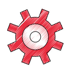 gear machinery piece vector image