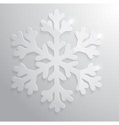 Glass snowflake Christmas vector