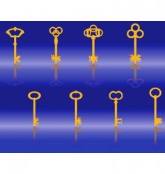 golden keys vector image