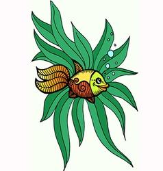 Goldfish in algae vector