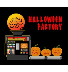 Halloween factory Device manufacturing scary vector
