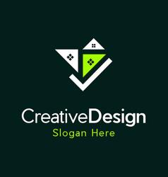 Home checklist reality creative business logo vector