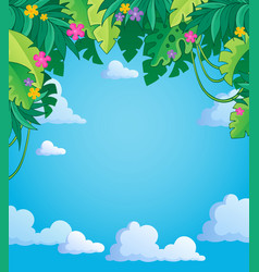 Image with jungle theme 4 vector