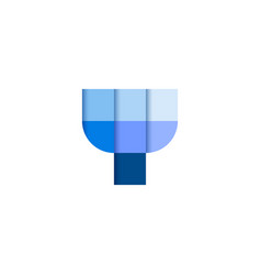 initial letter y square pixel logo design vector image