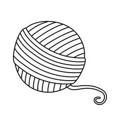 Isolated yarn ball design vector