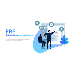 it manager on erp enterprise resource planning vector image