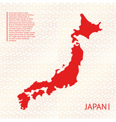 Japan country silhouette vector