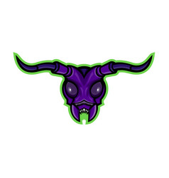 Long-horned beetle mascot vector