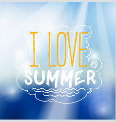 Love summer sign vector