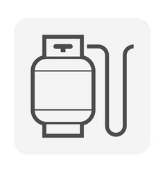Lpg gas tank icon design vector