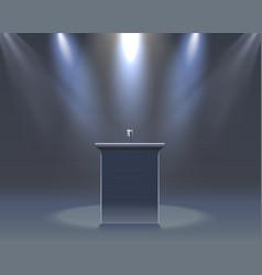 microphone on black scene vector image