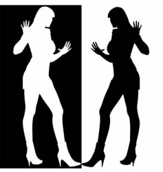 mirror silhouette vector image